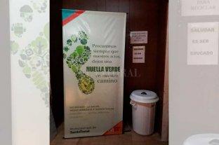 Santo Tomé: Recolectaron  más de 1.000 kilos de papel - Concientización. En las dependencias públicas afectadas a la campaña se aprecian mensajes que apelan al cuidado del medioambiente y la ecología. -