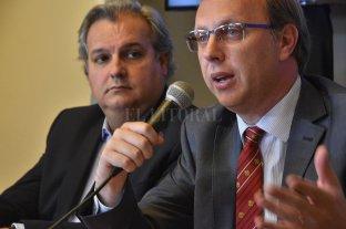 La provincia paga el aguinaldo el 20 y 21 de diciembre - Gonzalo Saglione, ministro de Economía, y Pablo Farías, ministro de Gobierno y Reforma del Estado. -