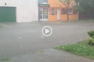 Videos: el granizo en Santa Fe y Santo Tomé  -