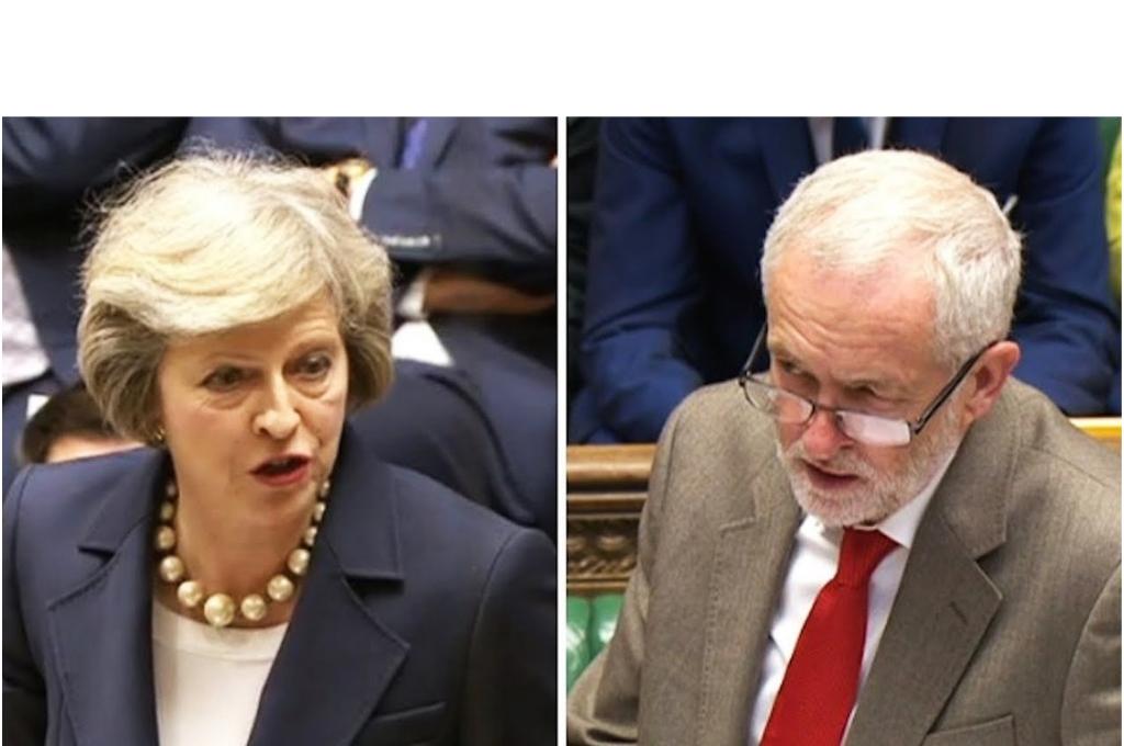 Theresa May y jeremy Corbyn, enemistados a causa de la votación para el Brexit <strong>Foto:</strong> Internet
