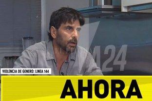 """Darthés negó las acusaciones y dijo que """"ya estoy muerto civilmente y en mi carrera"""" - Captura digital de la entrevista que el actor dio a América 24 -"""