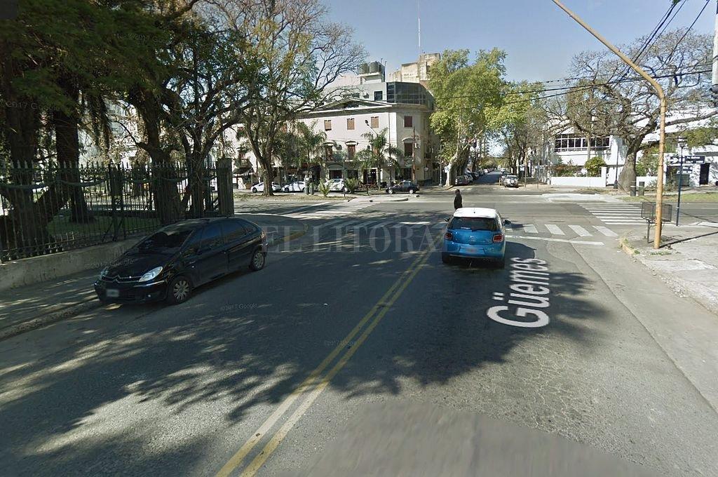 Calle Güemes casi bulevar Galvez. <strong>Foto:</strong> Captura digital Google Maps Street View
