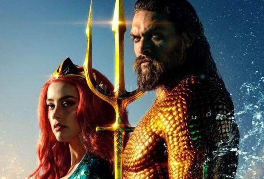 """El """"mestizo"""" Arthur Curry (Jason Momoa), heredero al trono de Atlantis, y Mera (Amber Heard), criada por la reina Atlanna y preparada para convertirse en reina. <strong>Foto:</strong> Gentileza Warner Bros."""