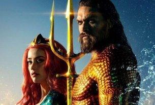 """Señor de los mares - El """"mestizo"""" Arthur Curry (Jason Momoa), heredero al trono de Atlantis, y Mera (Amber Heard), criada por la reina Atlanna y preparada para convertirse en reina. -"""