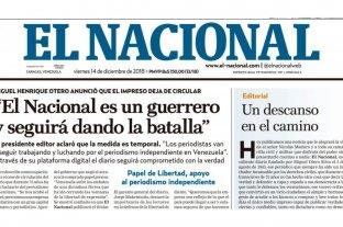 Cierra la edición impresa del único periódico que quedaba en Venezuela