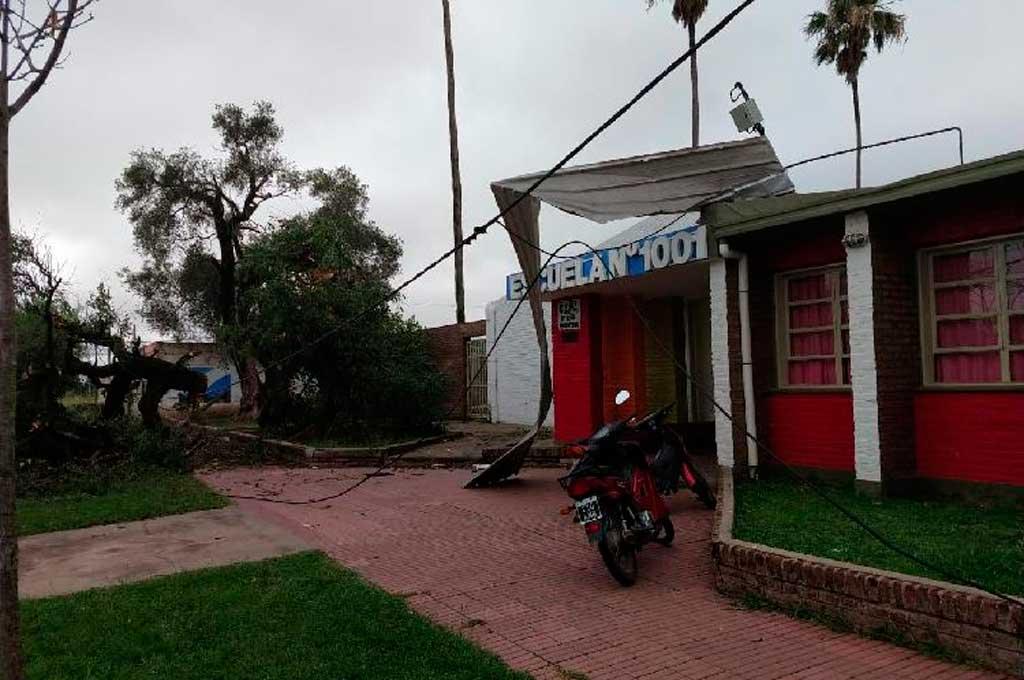 Frontera, otra localidad santafesina vapuleada por la tormenta