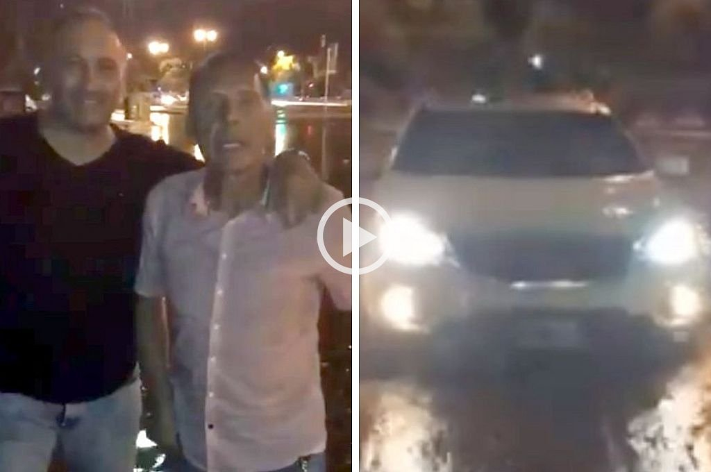 """Video: A Miguel Ángel Russo """"lo tapó el agua"""" y se la agarró con la intendenta de Rosario"""