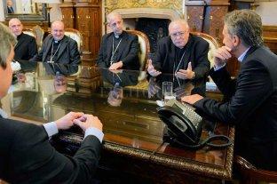 Plan piloto para reemplazar el  aporte del Estado a la Iglesia  - Una de las reuniones de Macri con representantes de la Iglesia -
