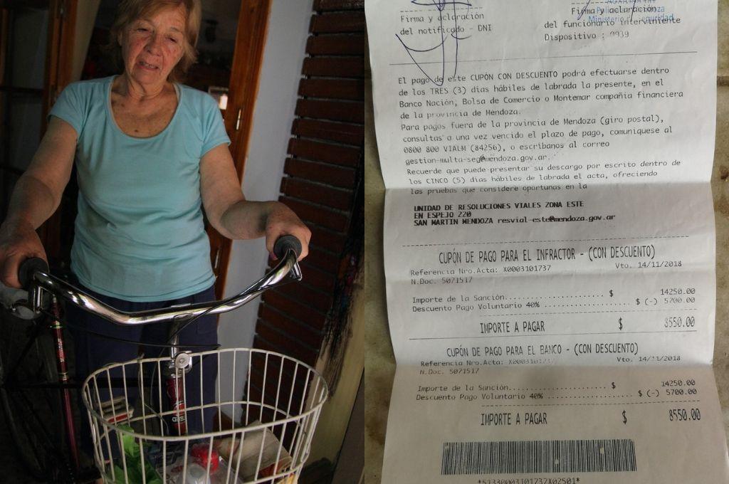 Insólito: $ 14.000 de multa a una jubilada por andar en bicicleta sin casco