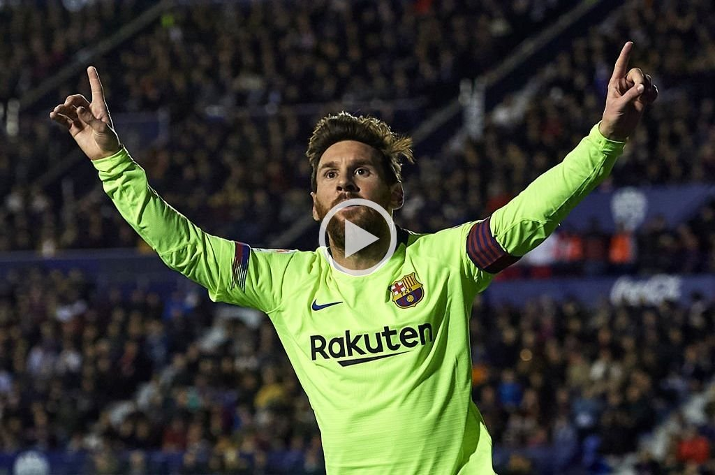 Show de Messi: tres goles y dos asistencias en la goleada del Barcelona
