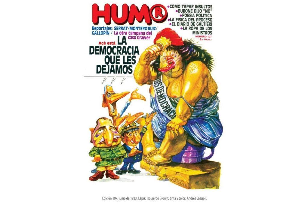 El número 107 de la revista Humor de junio del 83. Crédito: Gentileza del autor