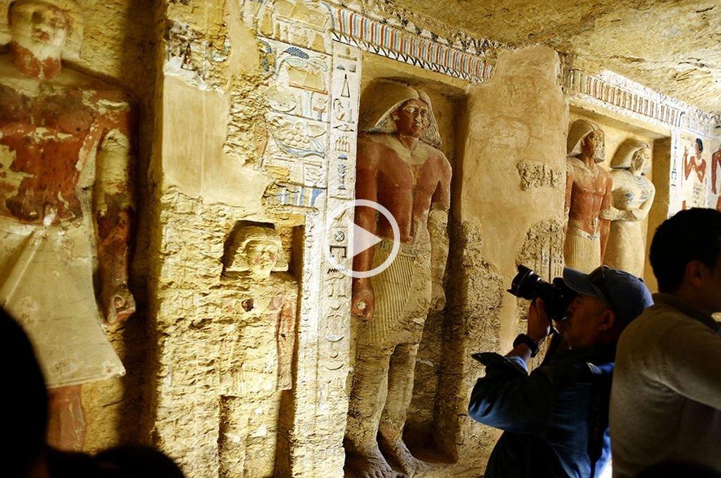 Descubren en Egipto una tumba de sacerdote de 4.400 años de antigüedad