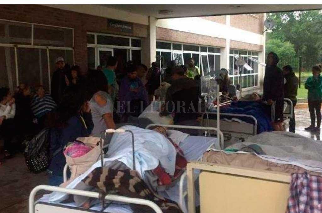 Al menos 180 personas fueron evacuadas tras un incendio en el Hospital Oñativia
