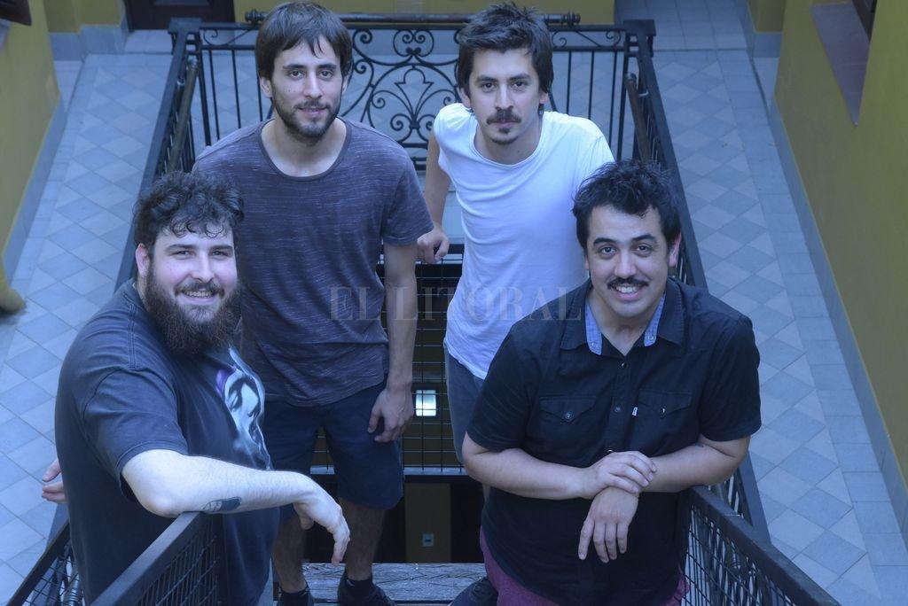 Manu Piras, Nacho Rivarola, Pablo Bustamante y José Burgueño. <strong>Foto:</strong> Luis Cetraro