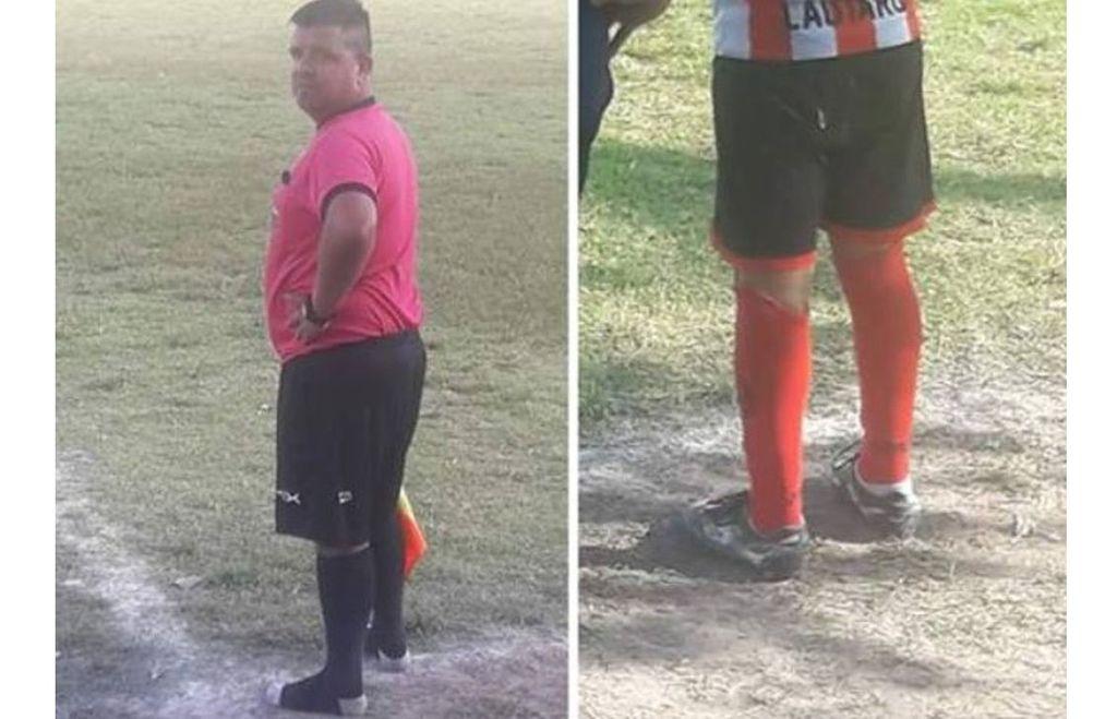 Noble gesto: Un niño no tenía botines y el árbitro le prestó los suyos