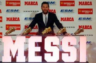 Messi recibió la bota de oro