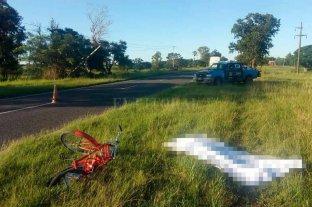 Falleció un ciclista tras siniestro vial en la Ruta 1