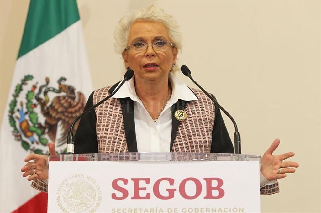 Este martes por la mañana, en conferencia de prensa la ministra de Gobernación de México, Olga Sánchez Cordero <strong>Foto:</strong> Archivo