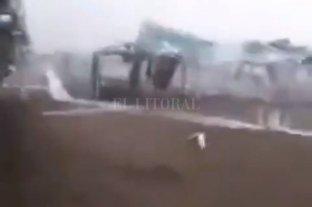Video: Un tornado causó destrozos en un balneario de Ostende