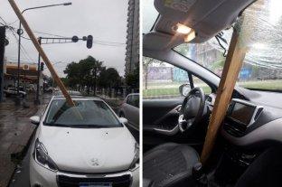 Auto golpeado por una viga: la constructora se hará cargo de los daños