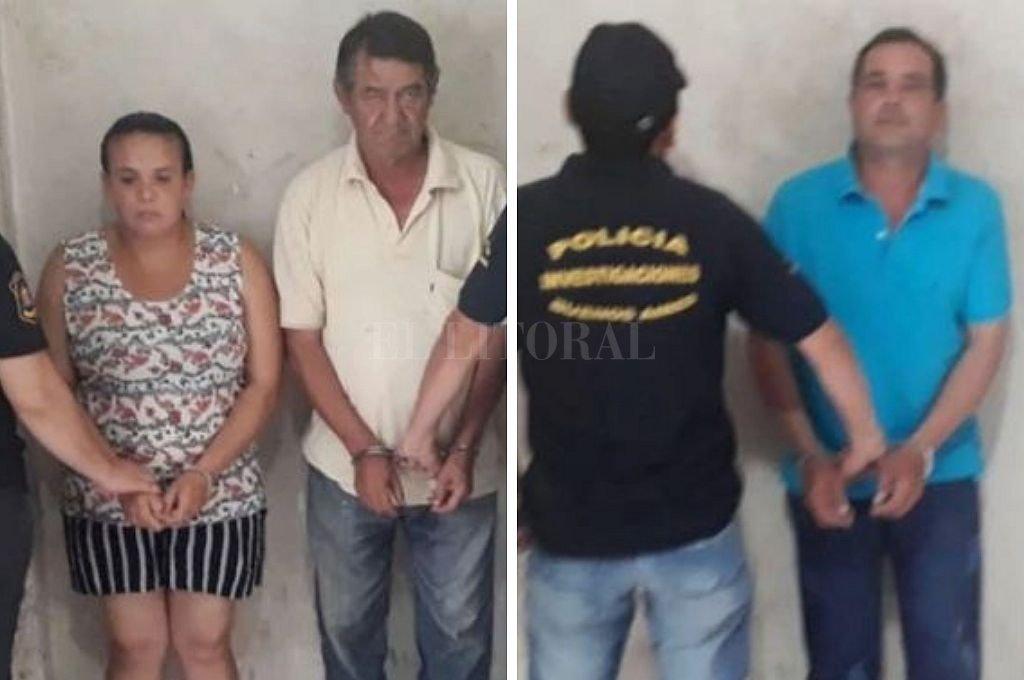 Ramona Perla (37, madre de la víctima), Julián Agripino (65, pareja de Perla) y Juan Bautista Rotela Domínguez (46 años, propietario de la vivienda). Crédito: Captura digital