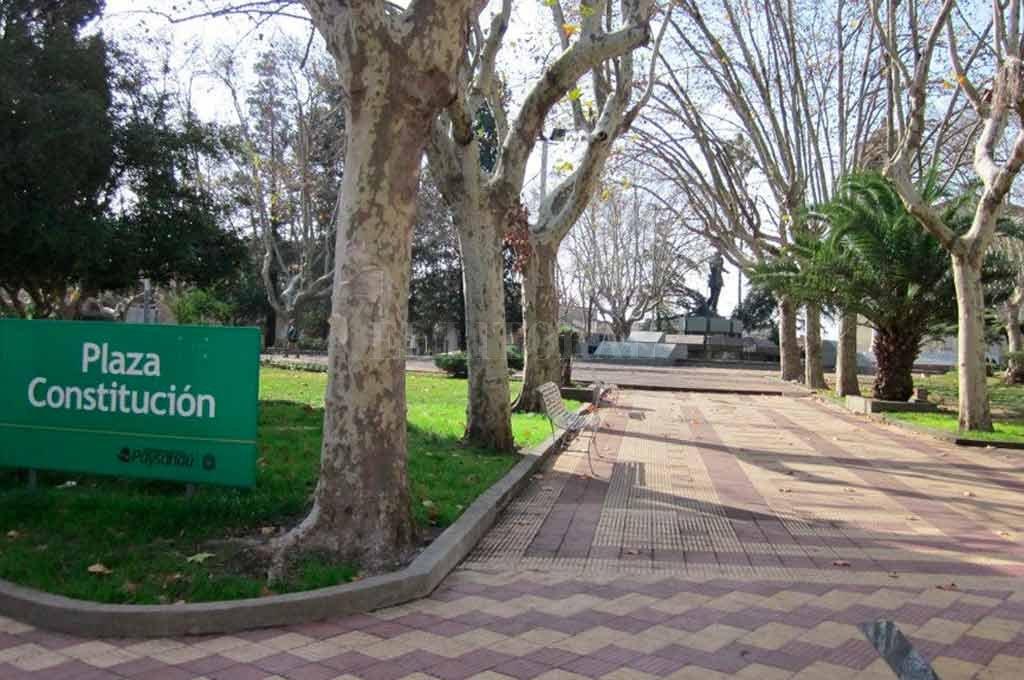 La plaza principal de Paysandú, lugar tradicional de la ciudad que recibirá a Colón la semana que viene <strong>Foto:</strong> Gentileza