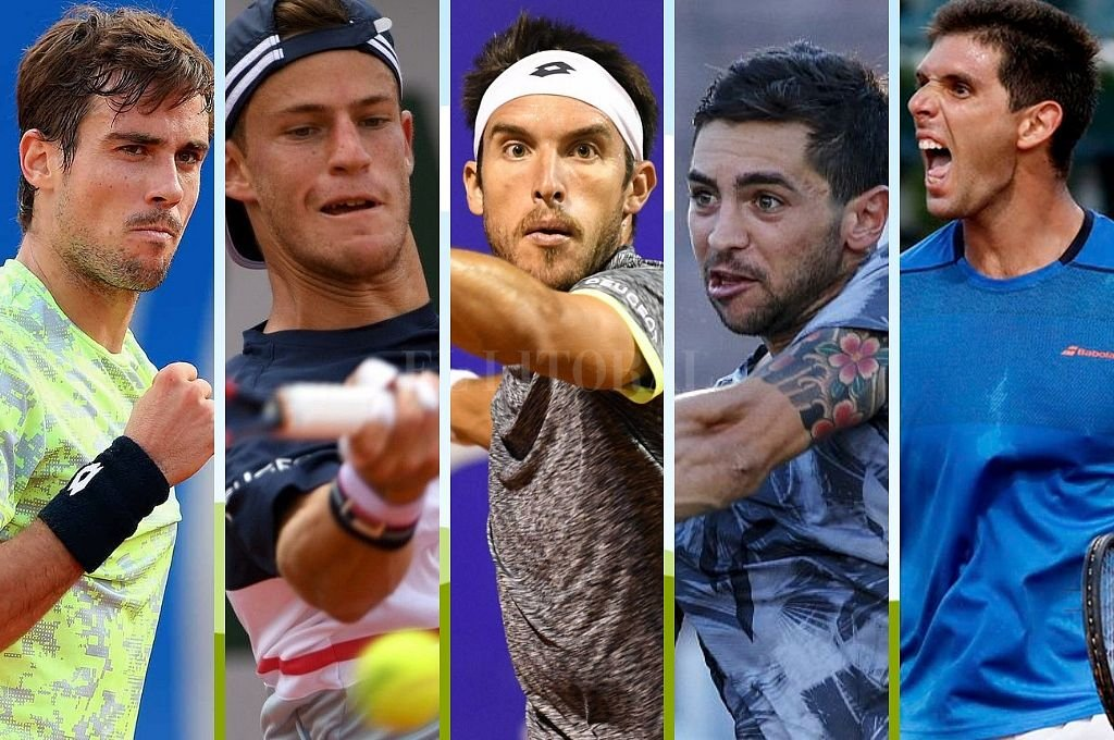 Los argentinos que jugarán en Melbourne: Pella, Schwartzman, Mayer, Andreozzi y Delbonis. Crédito: El Litoral