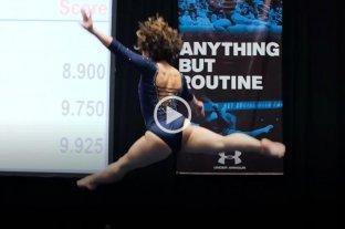 Una gimnasta causa furor en las redes con una rutina perfecta