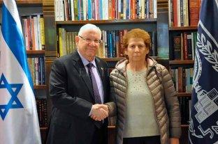 """""""Su hijo fue un héroe"""", le dijo el presidente de Israel a la madre de Nisman -  -"""
