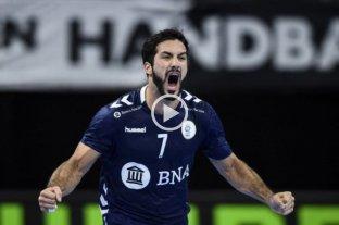 Argentina consiguió su primer triunfo en el Mundial de handball ante Angola