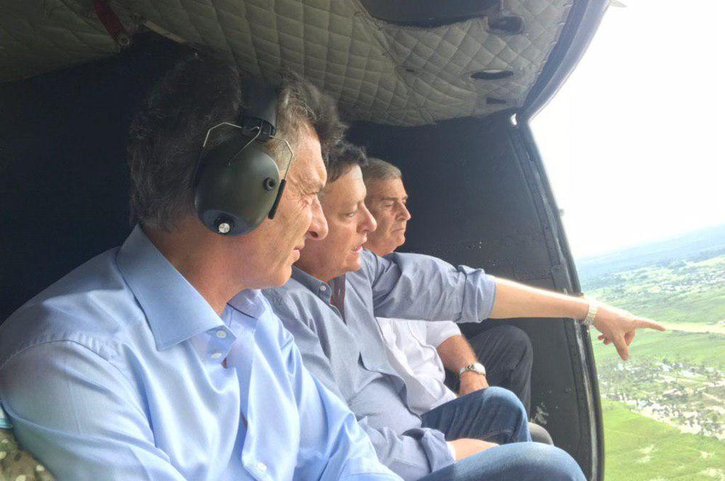 Macri visitó a los pobladores de Chaco afectados por las inundaciones