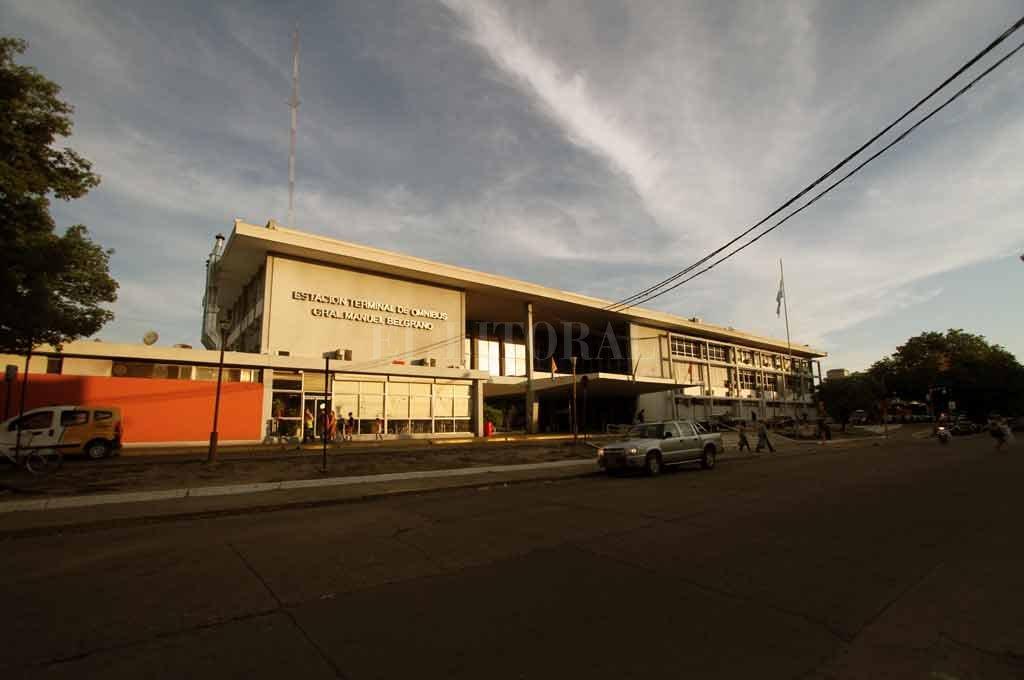 El hecho se produjo en adyacencias de la terminal de colectivos  Crédito: Archivo El Litoral