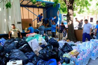 Camioneros llevan al norte de Santa Fe miles de productos donados