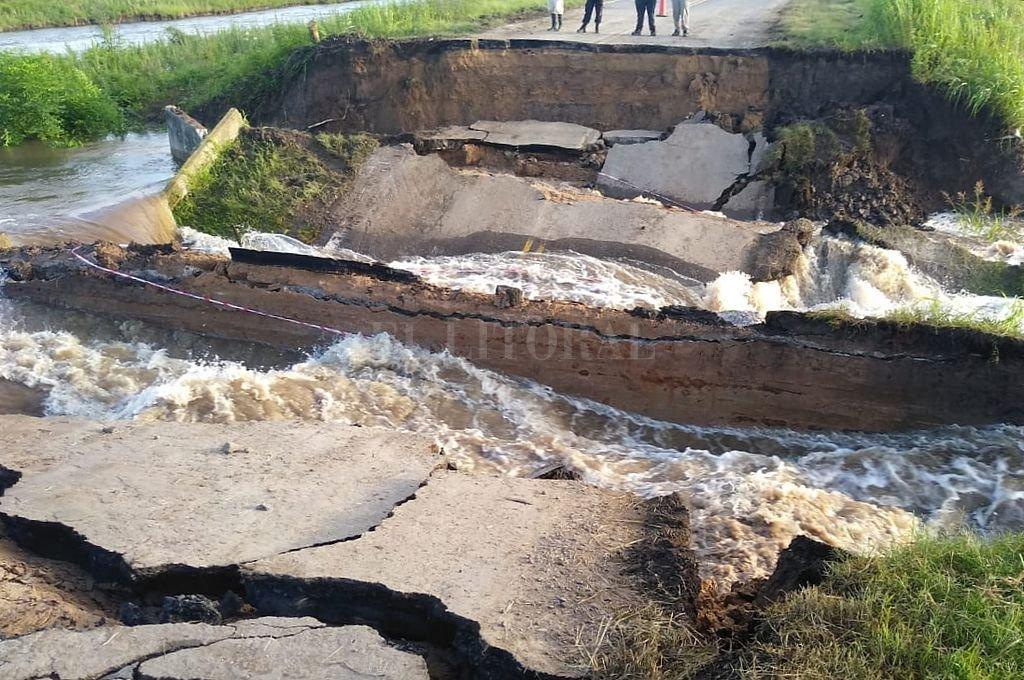 Corte en Ruta 1: instalarán un puente Bailey y en 72 horas restablecerían la circulación