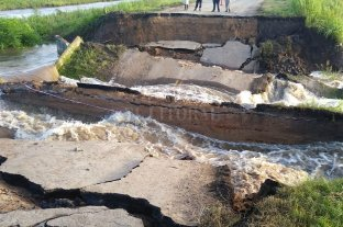 Corte en Ruta 1: instalarán un puente Bailey y en 72 horas restablecerían la circulación -  -