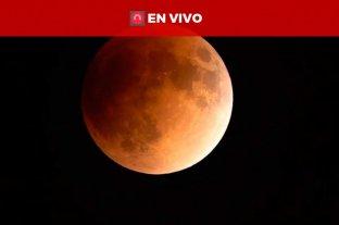 """Mira la """"Superluna de sangre"""" -"""