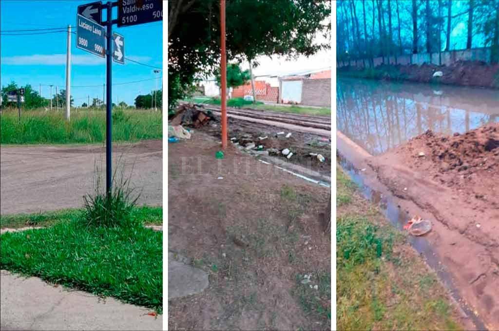 Reclamos por falta de mantenimiento en distintos puntos de la ciudad