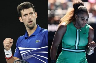 Australia Open: Djokovic y Serena Williams, los ganadores del lunes