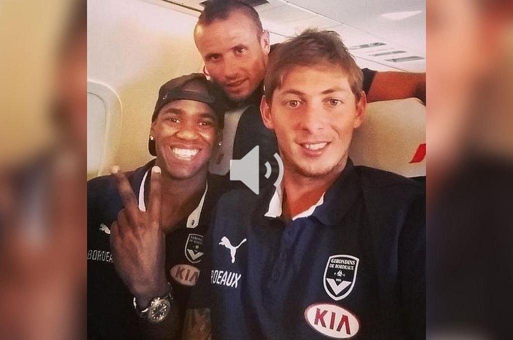 """Audio: Durante el vuelo Sala mandó un mensaje diciendo que sentía """"miedo"""" - Diego Rolan y Emiliano Sala cuando jugaban para el Bordeaux. -"""
