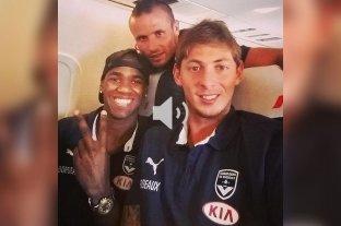 """Audio: Durante el vuelo Sala mandó un mensaje diciendo que sentía """"miedo"""" - Diego Rolan y Emiliano Sala cuando jugaban para el Bordeaux."""