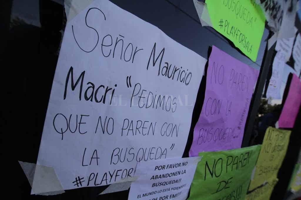 En Progreso, se repite el pedido para que sigan buscando al jugador <strong>Foto:</strong> Pablo Aguirre