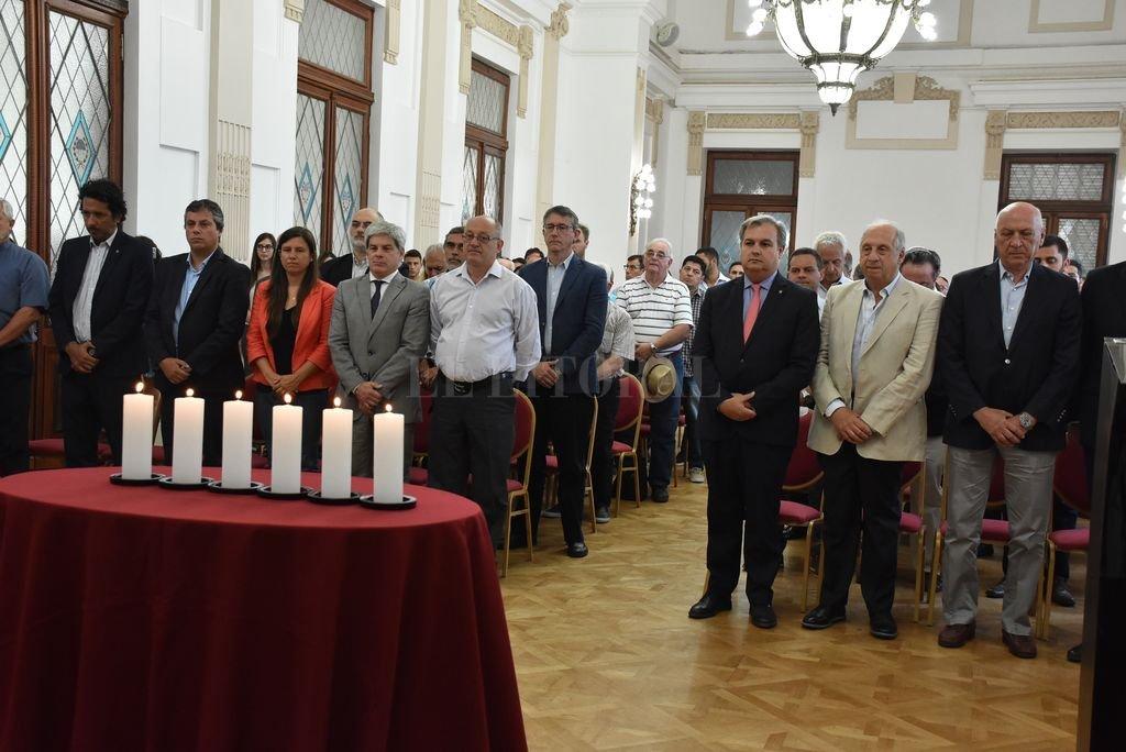 La recordación tuvo lugar en el Salón Blanco de la Casa de Gobierno.  <strong>Foto:</strong> Guillermo Di Salvatore