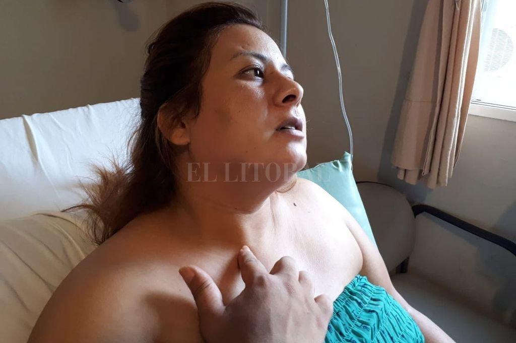 Georgina se repone de sus lesiones en un sanatorio privado. Crédito: Danilo Chiapello.