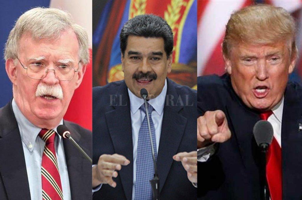 John Bolton, Nicolas Maduro y Donald Trump son foco de interés en la tensión que crece entre EE.UU y Venezuela <strong>Foto:</strong> Archivo
