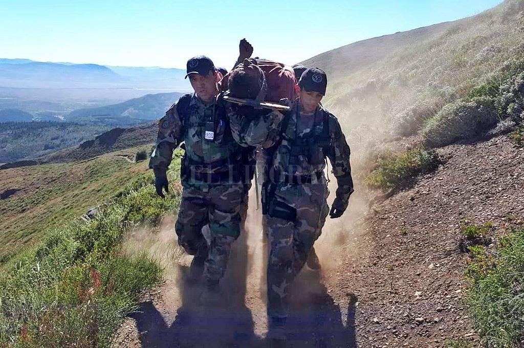 Cordi debió ser rescatado en la montaña. Estaba en malas condiciones físicas. NA