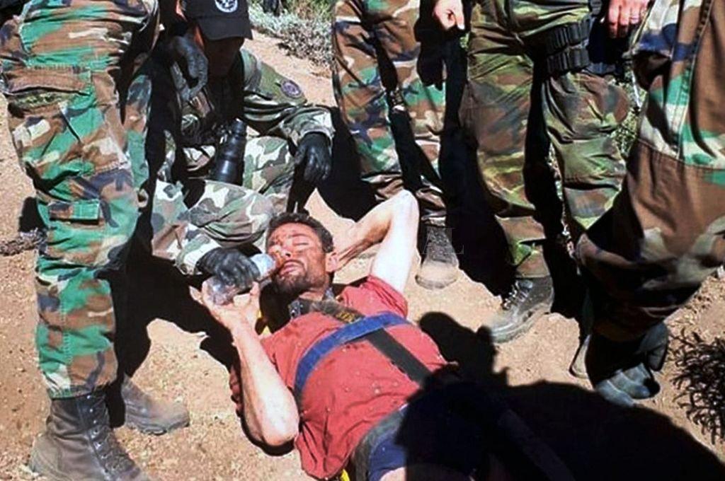 Cordi debió ser rescatado en la montaña. Estaba en malas condiciones físicas. <strong>Foto:</strong> NA