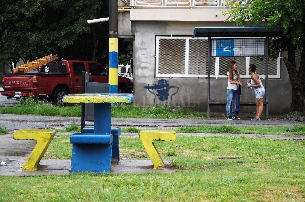 Plaza del barrio Tío Rolo donde se produjo el homicidio. <strong>Foto:</strong> Captura digital Clarin.com