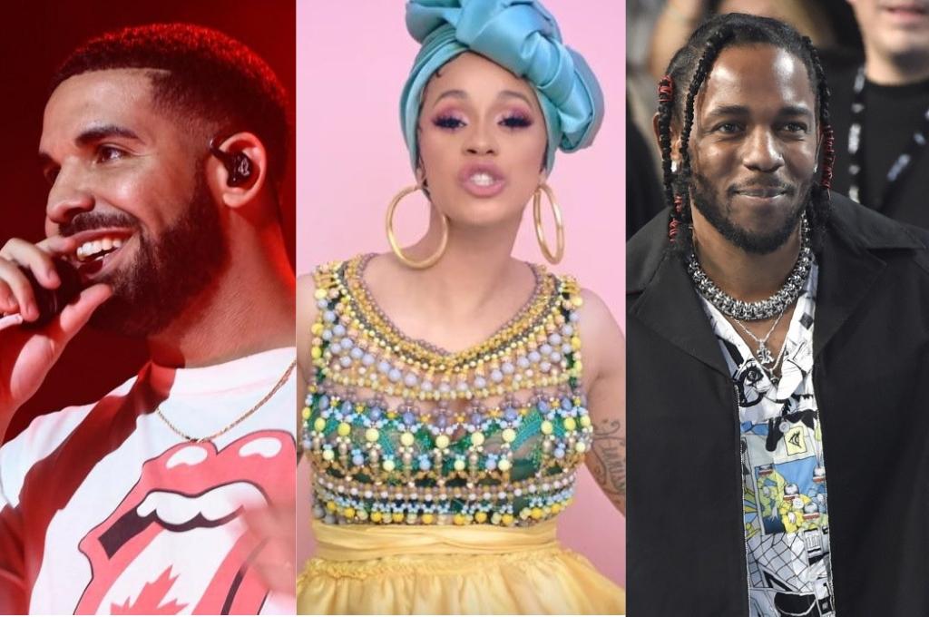 Drake, Cardi B y Kendrick Lamar se presentan como los favoritos de la edición 2019 <strong>Foto:</strong> Archivo