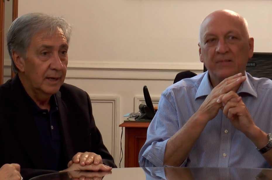 Bonfatti y Gramajo ya están en campaña. <strong>Foto:</strong> Captura de video