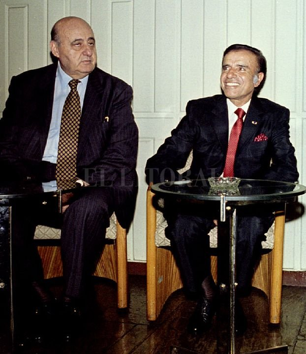 Gostanián y Menem. <strong>Foto:</strong> Archivo El Litoral